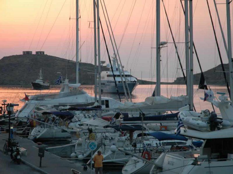 Kea island harbour