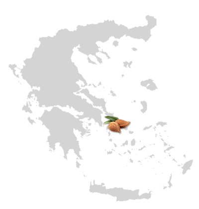 The location of Kea island on the map of Greece