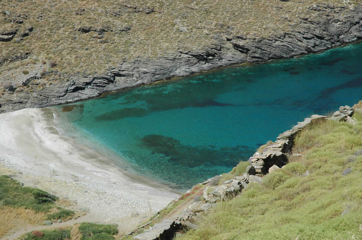 beach in Kea island