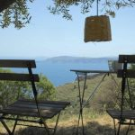 Enjoy the splendid view to the sea from the farmhouse