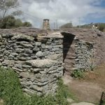 The original stone masonry of the farmhouses has been retained